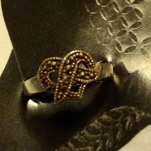 Ring, Marcasite and Sterling!  size 5-6